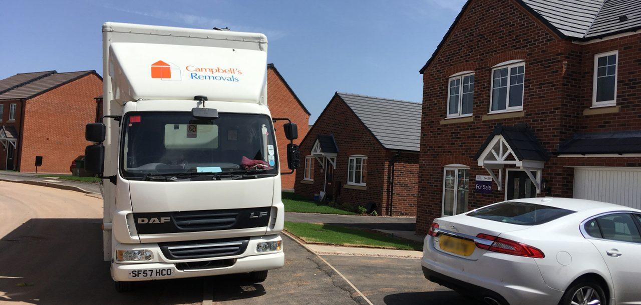 Bromsgrove removal firm Campbell's lorry outside house